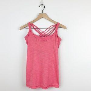 Lululemon   Pink workout tank with sports bra 6